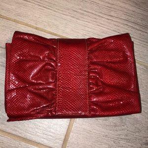 Vintage Meyers USA red clutch bag